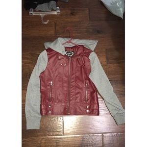 Cute red leather jacket